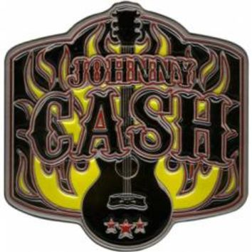 Johnny Cash Belt Buckle - Guitar