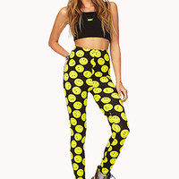 Bold Happy Face Leggings