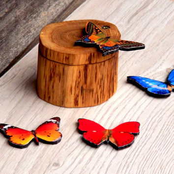 Set of 4 butterflies, Home decor, Table decor, Butterfly decor, Red butterfly, Blue butterfly, Orange butterfly, Not real butterfly