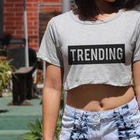 Trending Women crop top made in usa