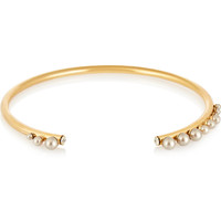 Elizabeth Cole Gold-plated Swarovski pearls necklace – 50% at THE OUTNET.COM