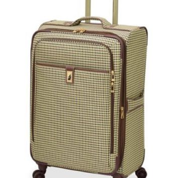"""London Fog Oxford Hyperlite 25"""" Expandable Spinner Suitcase Luggage"""