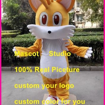 miles tail fox mascot costume The Hedgehog custom fancy costume anime cosplay kit mascotte theme fancy dress carnival41383