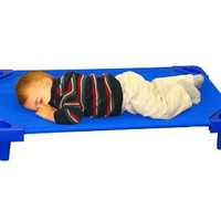 ECR4Kids ELR-0231-5 Stackable Assembled Kiddie Cot, Toddler Size, Blue