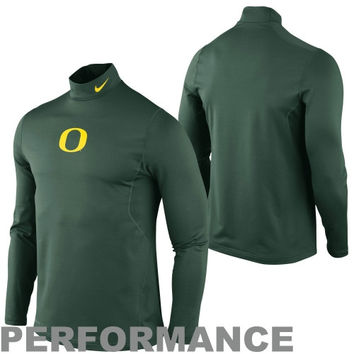Nike Oregon Ducks Performance Pro Combat Hyperwarm Long Sleeve T-Shirt - Green