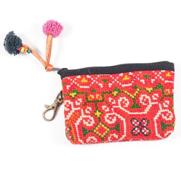 Vintage Hmong Hill Tribe Coin Purse (Thailand) - Style 4