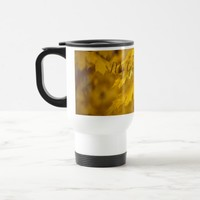 Yellow autumn maple leaves. Add you text or name. Travel Mug