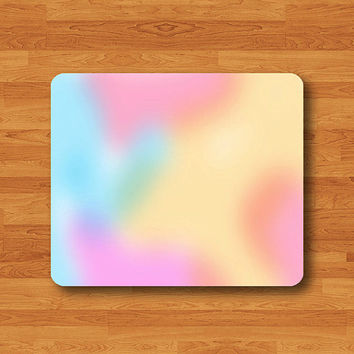 Pastel Pink Sky Blue Mint Art Lollipop Sweet Candy Dessert Mouse Pad MousePad Desk Deco Work Pad Mat Rectangle Personal Gift Christmas