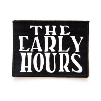 The Early Hours Logo Patch (Black)