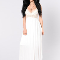 Ancient Ruin Maxi Dress - Off White