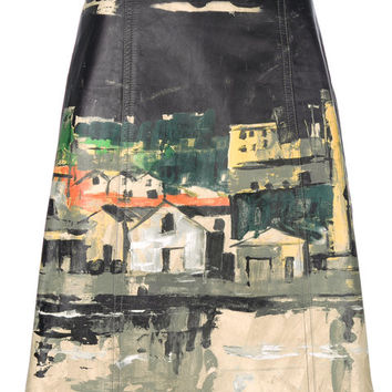 Prada Village Print Midi Skirt - Farfetch
