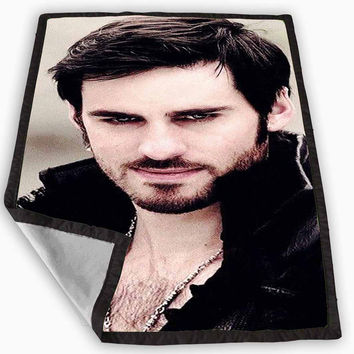Once Upon a Time Captain Hook Believe Blanket for Kids Blanket, Fleece Blanket Cute and Awesome Blanket for your bedding, Blanket fleece *