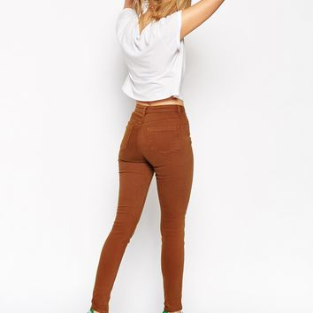 ASOS Ridley Skinny Jeans in Tobacco