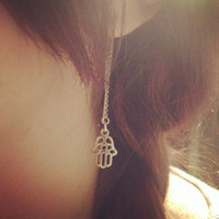 Hamsa hand Threader earrings