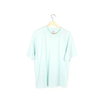seafoam green t-shirt - vintage - thin faded shirt - pastel