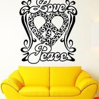 Wall Stickers Vinyl Decal Peace Love Good Positive Home Decor Unique Gift (ig1892)
