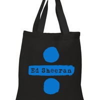 "Ed Sheeran ""Ed Sheeran & Divide Logos"" 100% Cotton Tote Bag"