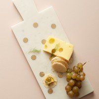 Dotted Brass Inlay Cheese Board