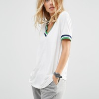 ASOS Varsity Tunic With Tipping at asos.com