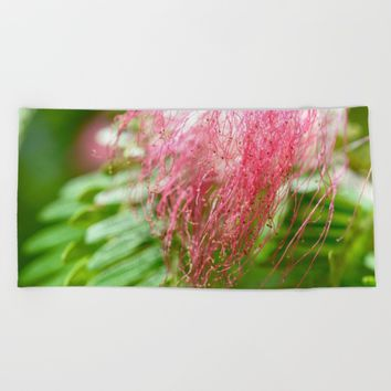 Pink Costa Rican Flower Beach Towel by UMe Images