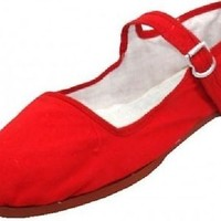 Womens Cotton Mary Jane Shoes Ballerina Ballet Flats Shoes 15 Colors