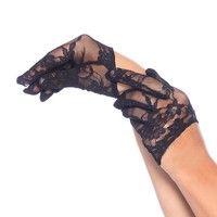 Leg Avenue Female Mini Cropped Lace Gloves 3751