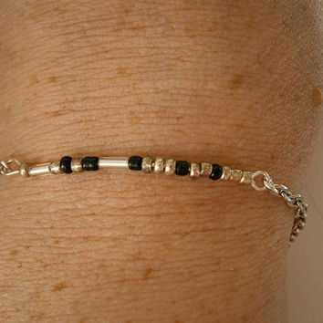 Morse Code Sister Bracelet - Chain and Link bracelets - Sisters Jewelry - Minimalist Jewellery - Morse Code Jewlery - Gift for Sister