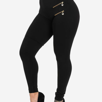 Extremely High Waist Black Leggings