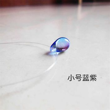 Minimalist color changing water drop necklace invisible fish line pendant necklace for women Fashion statement jewelry B19