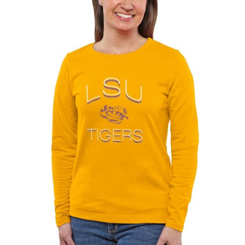 LSU Tigers Women's Fade To Victory Long Sleeve T-Shirt – Gold