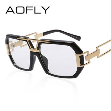 Eyeglass Frames Retro Men Women Fashion Plain Eyeglass Spectacle Square Frame Hollow Temples Glasses Frame Designer