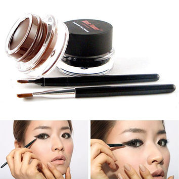 Brown Black Colors Eyeliners Gel2pcss Brushes Brand Makeup Cosmetic Sets  SM6