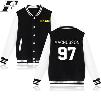 LUCKYFRIDAYF Skam Baseball  Jacket For Couple And Child MACNUSSON Womens Winter Jackets And Coats PINK And Black 4XL