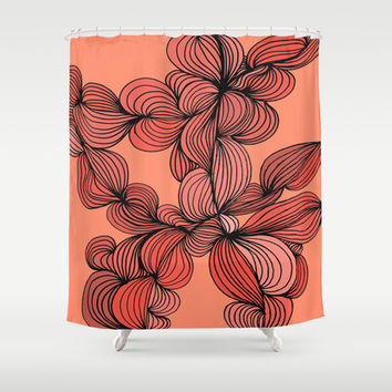 Retro Orange Shower Curtain by DuckyB (Brandi)