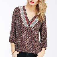 Abstract Arrowhead Print Popover
