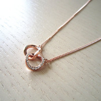 rose gold necklace-infinity love necklace-sweet necklace-perfect best for you or friends