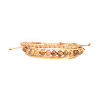 Tropical Sandy Beach Ladder Bracelet Stack