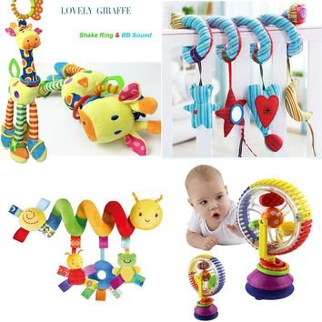 Soft Baby Toys 0-12 Months Musicical Crib Bed Stroller Toy Spiral Toys For Baby 0-12 Months Education Toys Bebe Bed Bell Rattle