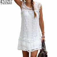 Casual Sleeveless Beach Short Dress- available Plus Size also!
