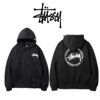 Limited Sale World Tour Stussy Print Long Sleeve Unisex Lover's Loose Hoodies Sweater Pullover