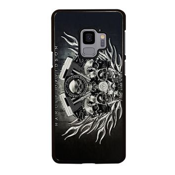 HARLEY DAVIDSON SKULL ENGINE Samsung Galaxy S4 S5 S6 S7 S8 S9 Edge Plus Note 3 4 5 8 Case Cover