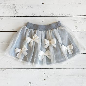 Bows Before Bros Skirt - Heather Grey