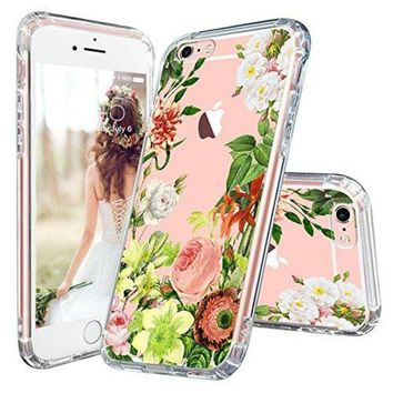 DCCKV2S iPhone 6 Case, iPhone 6 Slim Case, MOSNOVO Floral Botany Flower Clear Design Transparent Plastic Hard Case with Soft TPU Bumper Gel Protective Back Phone Case Cover for Apple iPhone 6/6s (4.7 Inch)