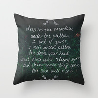 Rue's Song Throw Pillow by Leah Flores | Society6