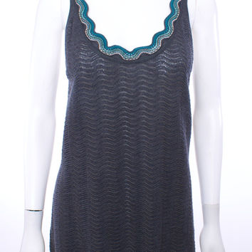 M MISSONI GRAY WOOL BLEND KNIT TANK TOP SIZE 14