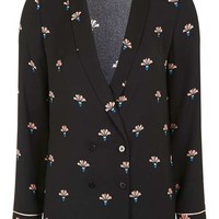 TALL Fan Print Slouchy Blazer - New In This Week - New In