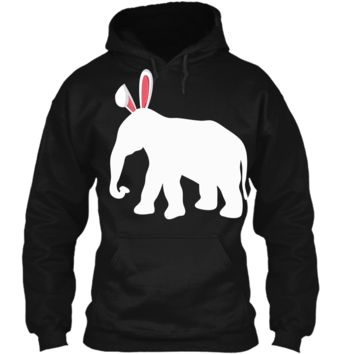 Easter Elephant T-Shirt For Kids and Adults Pullover Hoodie 8 oz
