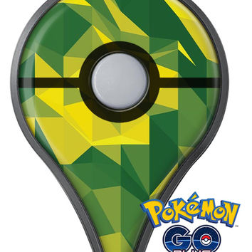 Green and Yellow Geometric Shapes Pokémon GO Plus Vinyl Protective Decal Skin Kit