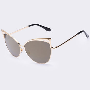 2015 New Metal Frame Dita Sexy Cat Eye Sunglasses for Women Coating Brand vintage sun glasses female oculos de grau femininos
