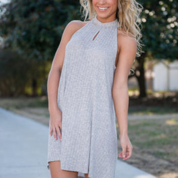 Better Days Ahead Dress, Gray